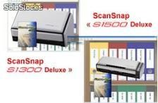 Fujitsu scan snap 1500 deluxe + sw rack to file
