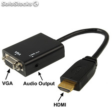Full HD 1080P HDMI al cable de salida VGA + Audio en Computadora / DVD / Digital