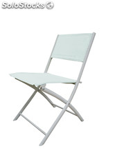 Fun chair white, white textilene