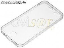 Funda 360 de TPU transparente para Apple iPhone 5 / 5S / SE