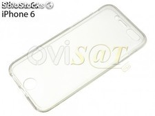 Funda 360 de TPU transparente para Apple iPhone 6, 6S de 4.7 pulgadas
