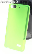 Funda Alcatel One Touch Pop D3 tpu Mate-Trans Verde