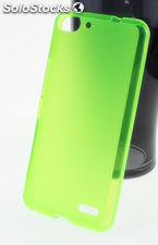 Funda Alcatel One Touch Pop D5 tpu Mate-Trans Verde