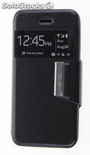 Funda Apple IPhone 5 / 5S Libro Agenda VIEW Soporte Negro