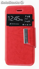 Funda Apple IPhone 5 / 5S Libro Agenda VIEW Soporte Rojo