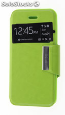 Funda Apple IPhone 5 / 5S Libro Agenda VIEW Soporte Verde