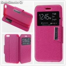 "Funda Apple iPhone 6 (4.7"") / iPhone 6S (4.7"") Libro View Soporte Fucsia"