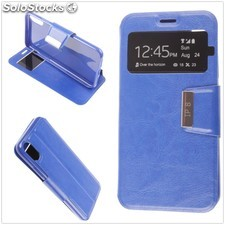 Funda Apple iPhone X Libro View Soporte Azul