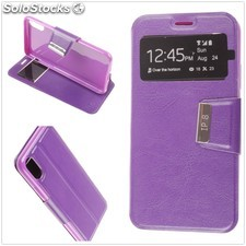 Funda Apple iPhone X Libro View Soporte Morado