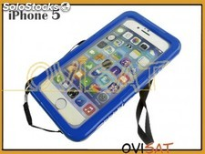 Funda azul sumergible para Apple iPhone 4, 4S, 5, 5S, en blíster
