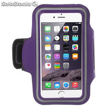 Funda brazalete deportiva iPhone 6 / 6S purpura