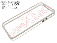Funda bumper, marco de TPU blanco transparente para Apple iPhone 5 / 5S / SE