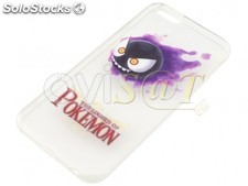 Funda de TPU transparente con diseño Pokemon (Dibujo Gastly), para Iphone 6, 6S.