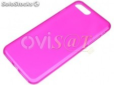 Funda fucsia de TPU transparente para Apple iPhone 7 Plus, iPhone 8 Plus de 5.5
