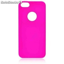 Funda gel iphone 5 jelly flash rosa