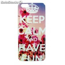 Funda gel iphone 6 plus keep calm