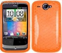 Funda Gel Tpu Naranja htc Wildfire g8