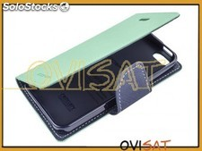Funda Goospery Mercury verde y negra tipo agenda para Apple iPhone 5 / 5S en