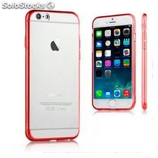 Funda iPhone 6 Plus Ref. 110068 TPU Crystal Rojo