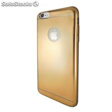 Funda iPhone 6 Plus Ref. 190831 TPU Aluminio Dorado