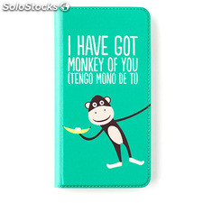 Funda Libro Iphone 6 plus Monkey Superbritanico