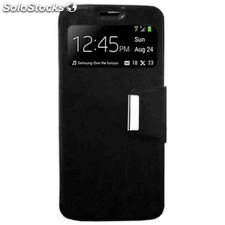 Funda libro ventana iphone 5 negra
