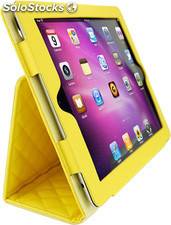 Funda Mooster iPad 2 case piel amarillo