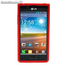 Funda Mooster LG Optimus P700 roja tpu
