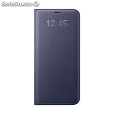✅ funda movil samsung galaxy S8 reloj led violeta