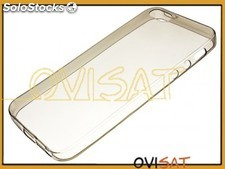 Funda negra de TPU transparente para Apple iPhone 5 / 5S