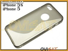 Funda negra de TPU transparente para Apple iPhone 5, 5S