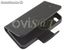Funda negra tipo agenda para Apple iPhone 4 / 4S.