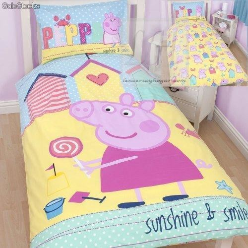 Funda nordica peppa pig seaside, cama 90