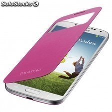 Funda original s-view cover para SAMSUNG galaxy s4 - rosa
