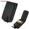 Funda PDair Cuero BlackBerry Curve 8520 - Flip Type (Black)