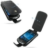 Funda PDair Cuero BlackBerry Torch 9800 - Flip Type (Black)
