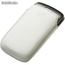 Funda Piel Pocket Original BlackBerry 9380 - Blanca