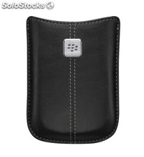 Funda Pocket Blackberry 8900 Curve piel negra