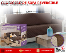 Funda protector de sofa reversible we houseware