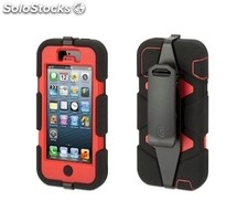 Funda protectora Griffin Survivor para iPhone 5 roja-negra