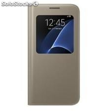 Funda s view cover galaxy S7 gold