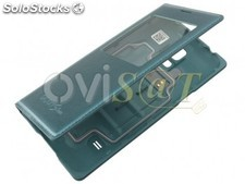 Funda S View verde metalizado para Samsung Galaxy S5 mini, G800