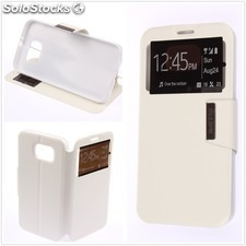 Funda Samsung Galaxy S7 EDGE Libro View Soporte Blanco