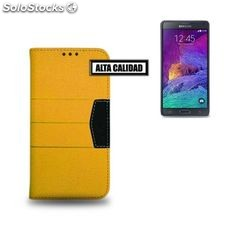 Funda Samsung Note 4 Ref. Elite 110259 PU Amarillo