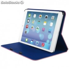 Funda / soporte trust aeroo ultrathin folio stand pink/blue - para ipad mini -