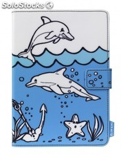 Funda tablet 7 techair TAUKT003 delfines