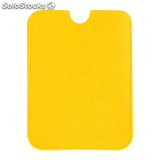 Funda tablet amarillo fieltro.