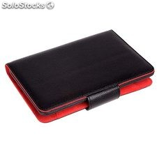 Funda tablet phoenix para tablet / ebook hasta 6'' negra simil piel