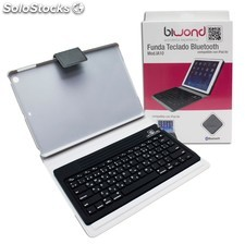 funda teclado bluetooth compatible ipad air negra biwond PEC03-7467