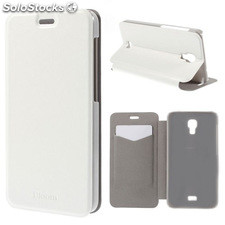 Funda Tipo Libro Wiko Bloom blanca